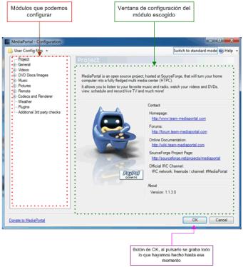 configurar videos mediaportal