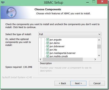 instalar XBMC 4_escoger PVR