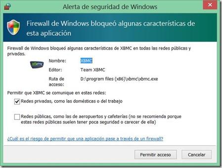 instalar XBMC 9_cortafuegos Windows