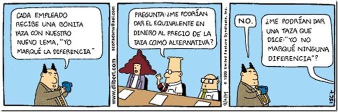 Dilbert Regalos de las empresas a sus trabajadores