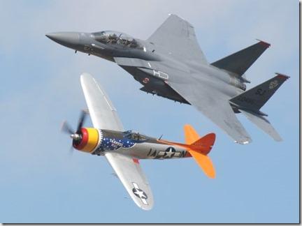 Aviones nuevos y viejos