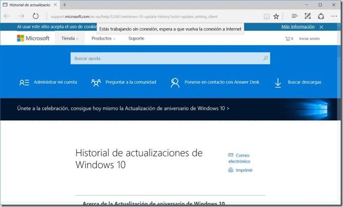 Actualizar a Windows 10 anniversary 2
