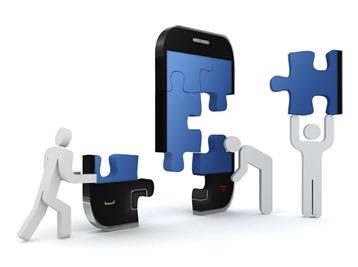 Telefono movil a piezas
