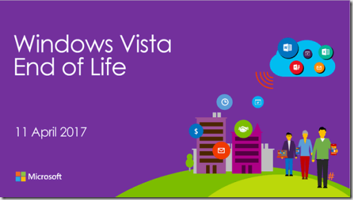 Windows Vista fin del soporte 17 de abrir de 2017