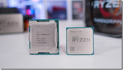 Ryzen 1700 frente a Core i7 7820x